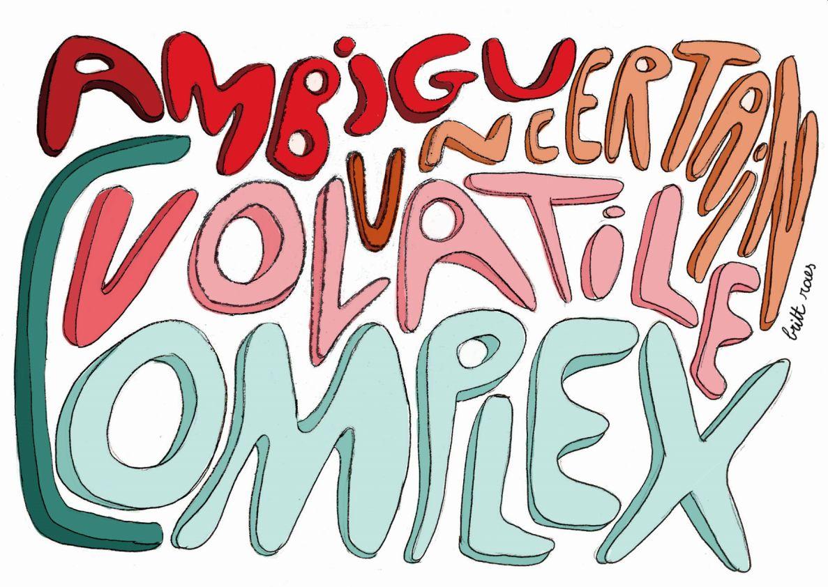 de woorden volatile ambigu complex uncertain
